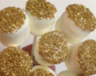 Edible wedding favors gluten free Chocolate Dipped Marshmallows pops