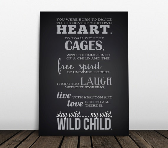 Wild child country music lyrics kenny chesney by jesspoutredesigns