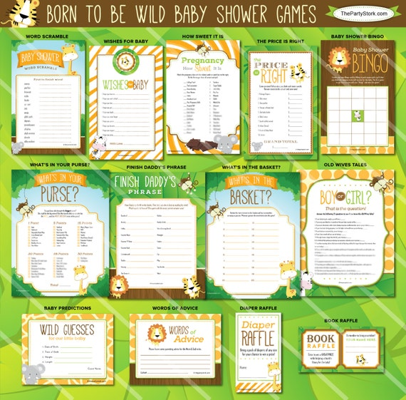 baby shower games jungle baby shower games printable safari theme