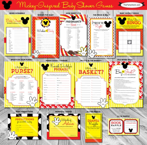 mickey mouse baby shower games by the party stork catch my party
