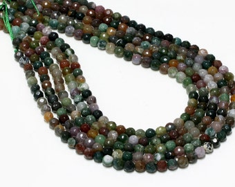 "GU-1659-3 - Fancy Jasper Faceted Round Beads - 8mm - Gemstone Beads - 16"" Full Strand"