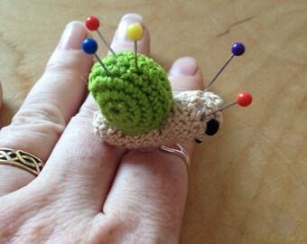 Snail Pincushion Ring