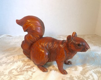Vintage Ceramic Red Squirrel Figurine by Norcrest Made in Japan