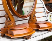 Stunning Victorian Table Dressing Mirror, Antique, Vintage, Bedroom Mirror, Dressing Mirror