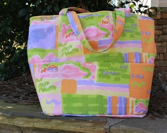 Fields of Color Reversible Tote