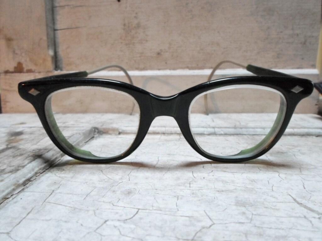eyeglasses bakelite safety glasses industrial by allvintageman