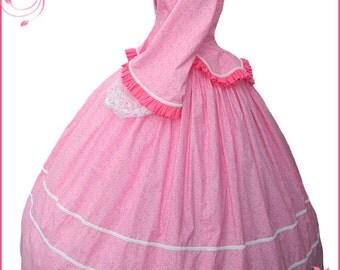 1800's 2 pc Civil War Victorian Pink Tea Dress Day Gown Gorgeous New Reenactors Handmade