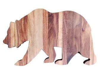 Walnut California Bear Wall Decor
