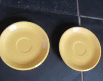 Vintage Sunflower Yellow Fiestaware Tea Cup Plates