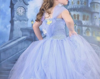 Cinderella 2015 inspired girls Tutu Dress  sizes 12M - girls 8