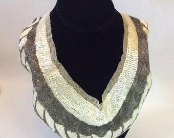 BEADED COLLAR VINTAGE Twenties Thirties dress collar