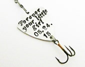 Forever Your Little Girl Fishing Lure, Personalized Wedding Gift, Father Gift, Personalized Dad Gift, Personalized Fishing Lure, Outdoors