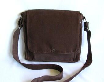 Large messenger bag- Brown corduroy