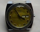 Vintage 1970s Timex Electric Dynabeat Diver style Wrist Watch