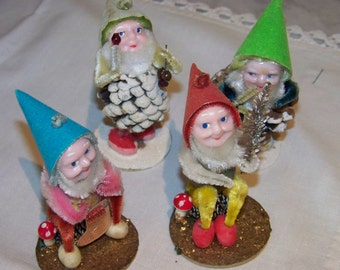 Christmas vintage Pixie lot of 4