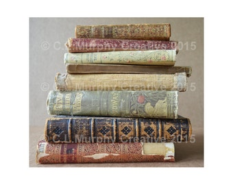 """Books Old Books Photograph Book Photography Antique Books Print 12 x 10"""""""