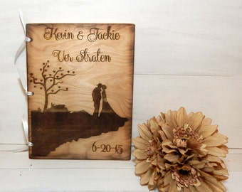 Personalized Wedding Guest Book, Personalized Album, Wedding Guest Books, Bride and Groom,Firefighter,Firefighter Wedding, Rustic Book