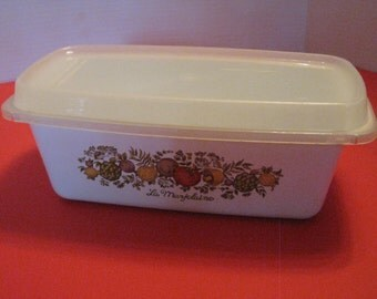 SALE 20% OFF Vintage Corning Ware Loaf Pan, Spice of Life Pattern