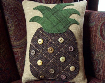 Pineapple Shelf Pillow Tuck Accent Pillow
