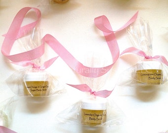 BODY SCRUB FAVORS - Peppermint / Lemongrass / Lavender Body Scrubs - Travel Size / Wedding / Bridal Shower Favors Minis