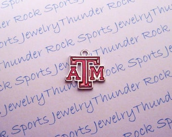 3 Texas A&M Aggies Charms Silver Plated University Logo Pendants