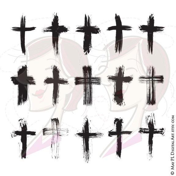 brush christian crosses catholic faith brushstroke paintstroke