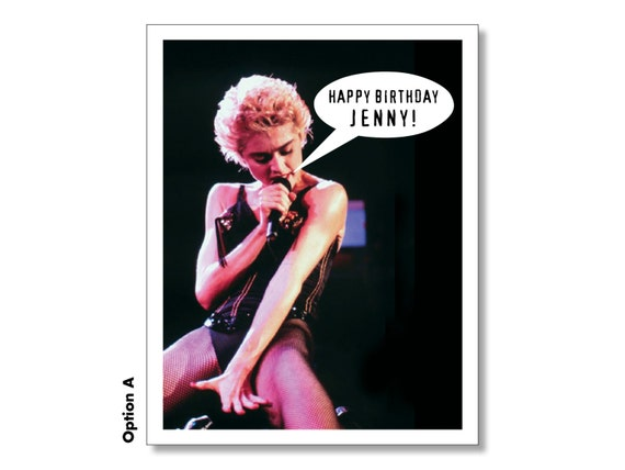 personalized madonna happy birthday card get your super, Birthday card