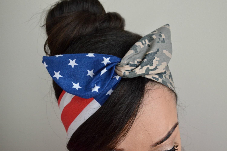 Air Force Girlfriend Air Force Bow Headband American