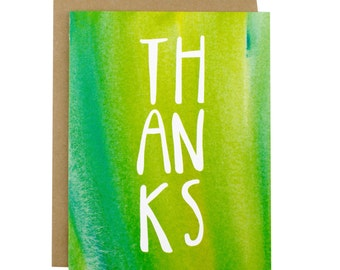 Thank You Card - Thank You Card Set - Thanks - Watercolor