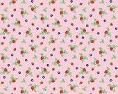 Riley Blake - Vintage Market 1/2 Metre Strawberries in Pink, Tasha Noel, Ships from Australia