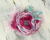 Baby Headband- Baby Girl Headband- 1st Birthday Outfit -Headband- Flower Girl Headband-Photo Prop
