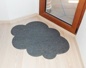 Rug cloud. Original and decorative custom doormat. Walking on clouds.