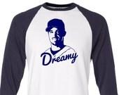Dreamy Brad Ausmus Raglan Baseball T-Shirt - Unisex