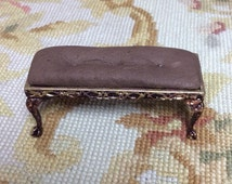Table Bench Ottoman Foot Stool  - by Pat Tyler Leather Dollhouse Miniatures