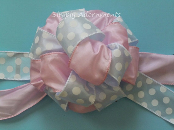 Gender Reveal Baby Shower Party Decor Gender Reveal Shower party Decor Baby Pink Blue Gender Reveal Gift Bow Boy or Girl Shower Decor bow