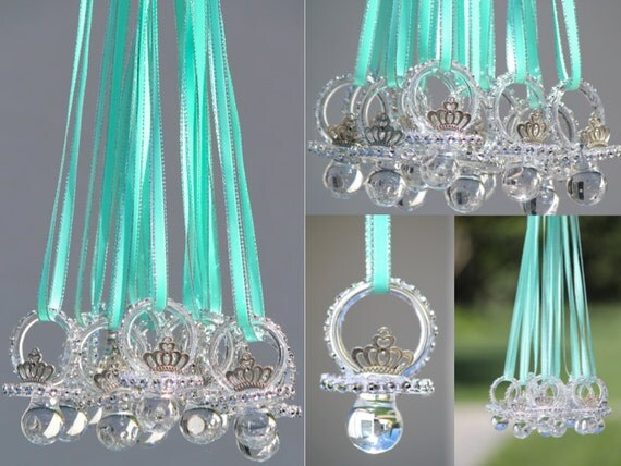 pacifiers baby shower pacifier necklace baby shower game teal baby