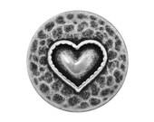 6 Heartfelt 11/16 inch ( 18 mm ) Metal Buttons