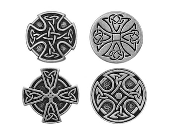 10% Off Celtic Cross Pewter Button Collection