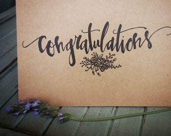 Hand drawn Congratulations cards (pack of 10)