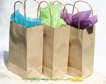 10 Favor Bags Kraft Favor Bags 6.5 X 4.5 X 2 Inch Paper Bags With Handle Small Favor Bags Wedding Favor Party Favor Bags Handle Bags