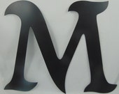 """12"""" Custom Cut Metal Alphabet Letter, You Pick Which Letter (or Letters) You Want, Mikadan Font"""