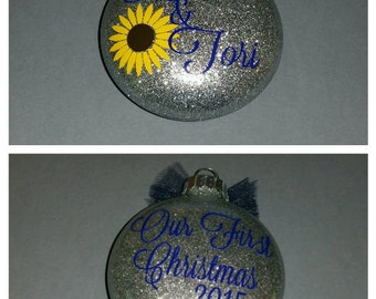 Our First Christmas Personalized Ornament/ Personalized Couple Ornament