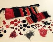 Black and Red Crazy Quilt (CQ) Embellishment Kit