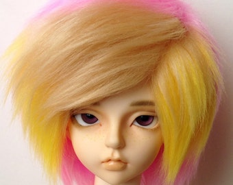 MSD Multi Color Streak Bangs Fur Wig [Your Color Choice!]