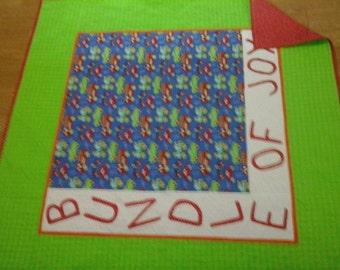 Baby Quilt/ Bundle Of Joy Bright colors