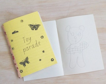 Toy Parade zine with pencil drawings
