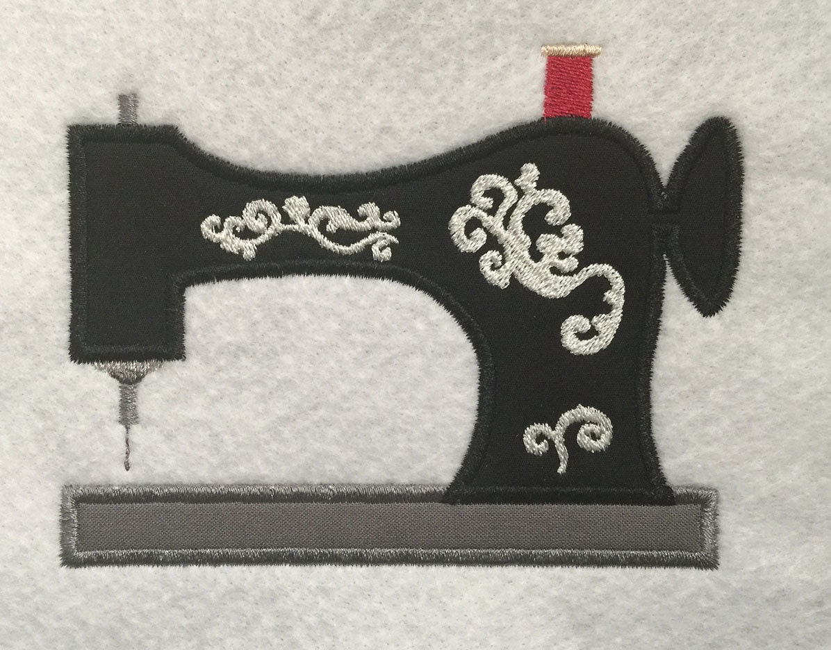 Decorative sewing machine applique embroidery design instant