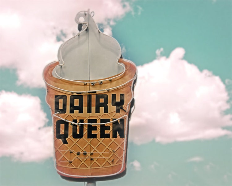 Vintage Dairy Queen Sign Ice Cream Cone By Davidmellenbruch