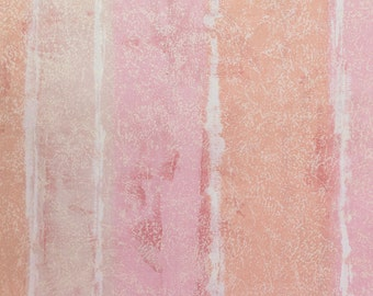 Peach n Pink Paint Stripes 100% Baumwolle Cotton 48 wide FC11736 Fabric by the Yard, 1 Yard