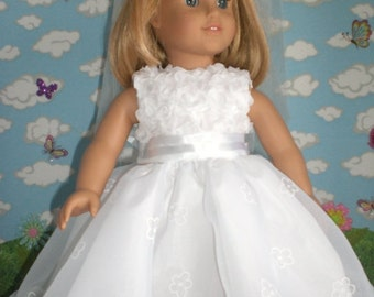 1st Communion / Brides Dress for American Girl Doll